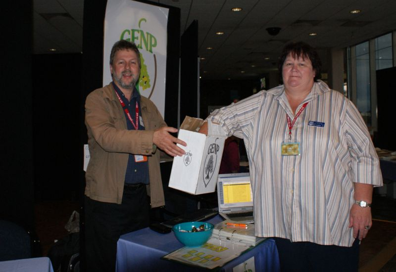 Prize Draw of GENP Platinum version 3 at 7th Victorian Family History State Conference