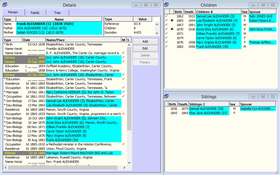Sample database in TMG